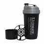"Шейкер ""Ultimate Nutrition"" с 1 контейнером чёрный, 600 мл. ""Ultimate Nutrition"" UNshakB"